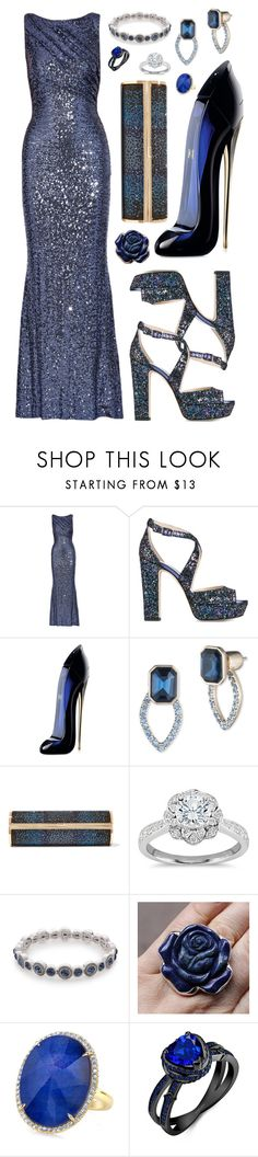 """""""Step Up For Gala In Block Heels"""" by farrahdyna ❤ liked on Polyvore featuring Badgley Mischka, Jimmy Choo, Carolina Herrera, Ivanka Trump, Zac Posen, Napier, RedCarpet, party, gown and Gala"""