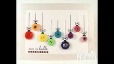 Handmade Christmas Craft - Festive bauble Card from buttons