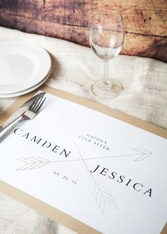 design your custom placemats for your wedding table or engagement party