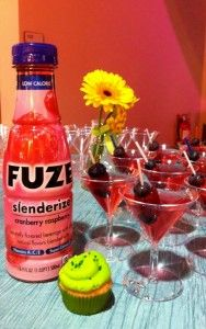Fuze, Cointreau and cranberry martinis.