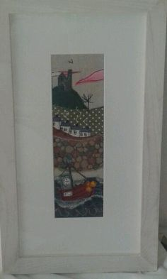cornwall kernow textile free machine embroidered picture