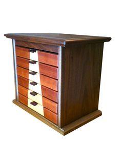 Walnut Maple Cherry Jewelry Box by BlueSkiesHomestead on Etsy, $170.00
