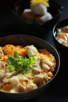 Japanese Food Oyakodon (Chicken and Egg Rice Bowl), One of the Most Popular Dishes in Japan.
