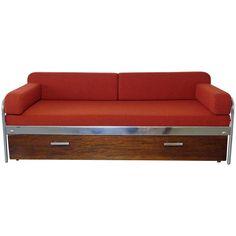 1930s Bauhaus Steel Tube Sofa Bed by Mücke & Melder, Czechoslovakia