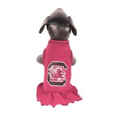 NCAA South Carolina Fighting Gamecocks Cheerleader Dog Dress (Team Color, XX-Small) * Details can be found  : dog clothes