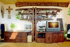 Mobila lemn masiv pentru living cu spatiu pt TV Liquor Cabinet, Funguje To, Living, Furniture, Home Decor, Decoration Home, Room Decor, Home Furnishings, Home Interior Design