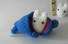 Amigurumi To Go: Tiny White Totoro Pattern One of Three For Stacking Set