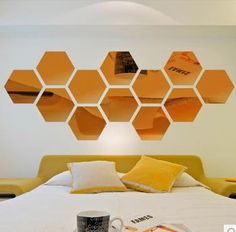 beehive acrylic mirror. Black Bedroom Furniture Sets. Home Design Ideas