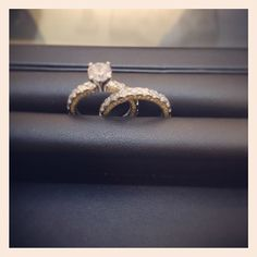 #KirkKara one of a kind #weddingset. The setting and band are both eternity with yellow #diamonds on either side of the shank making it three sided - @racheldiamonds- #webstagram