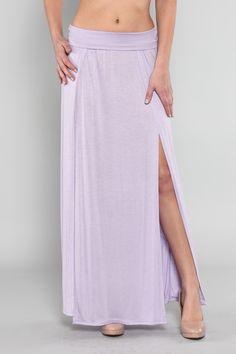 Lilac split maxi skirt