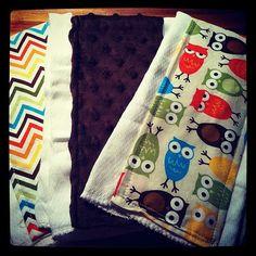 Set of 3 Burp ClothsPick your fabrics by UniqueNikNax on Etsy, $15.00