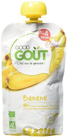 Good Goût – BIO – Gourde de Purée de Fruits Banane dès 4 mois – 8 gourdes de 120 g