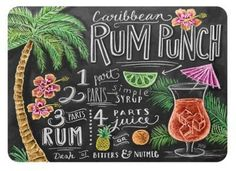 The Softer Side by Weather GuardTM 18-Inch x 27-Inch Rum Punch Kitchen Mat
