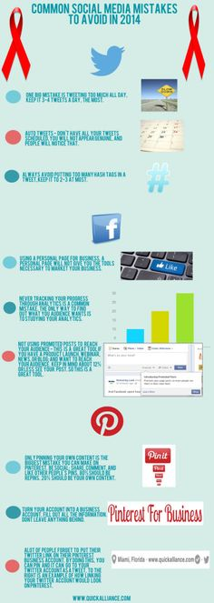 "common social media mistakes to avoid in 2014 ""REPIN "" if you like... #smm"