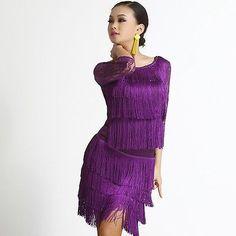 Women's Latin Dance Competition Dress Suits Rumba Samba Cha Cha Cowboy Ballroom
