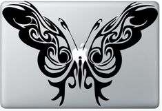 tribal Butterfly laptop DECAL- macbook computer- fairy whimsical vinyl sticker by EyvalDecal on Etsy https://www.etsy.com/listing/67724899/tribal-butterfly-laptop-decal-macbook