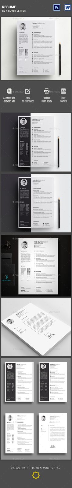 #Resume - Resumes Stationery Download here: https://graphicriver.net/item/resume/15323865?ref=alena994