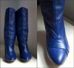 Blue leather boots I think dolly parton  would love.