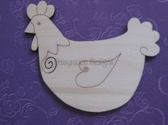 Wood Chicken Crafts | Chicken Laser Cut Engraved Shape - Animals - Laser Cut Wooden Craft ...