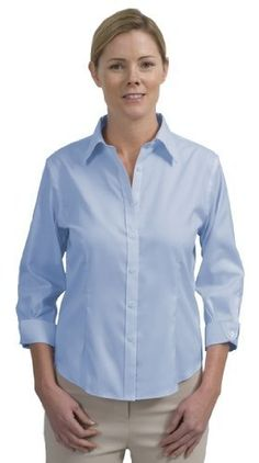 7e7240b89 Red House Ladies 3/4-Sleeve Non-Iron Pinpoint Oxford. Red House