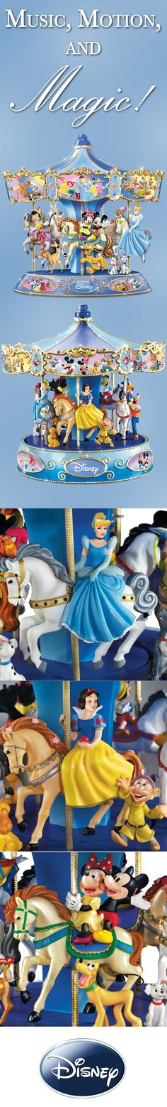 Let all the magic of classic Disney films come around again with the Wonderful World of Disney Musical Carousel!