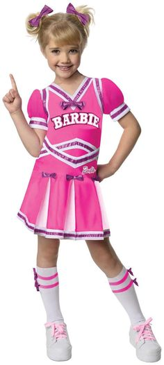 Barbie - Cheerleader Toddler/Child Costume #RubiesCostumeCo #Dress