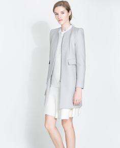 ZARA Pearl Grey Coat