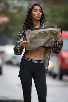 Windbreaker Woodland Camouflage: Sweat Crew Performance Legging Black: Sweat Crew Performance Harness Bra Black: Sweat Crew Sneakers: Nike Banner Control Plugin Activated!