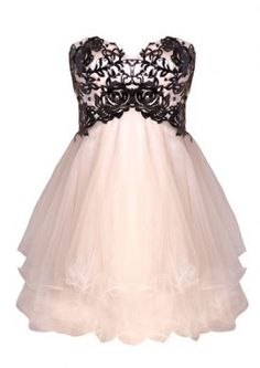 pretty dress lacy peachy short puffy dress