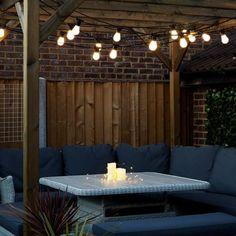 Konstsmide Garden Party//BBQ Festoon Outdoor Light Set 20 Bulbs Clear