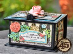 graphic 45 couture rubberstamp collection | of photos & paper: Jewellery Box with tutorial