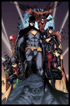 The Bat-Family by Furlani on Deviant Art Follow The Best Comics Artwork Blog on Tumblr