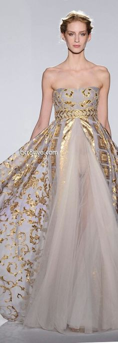 Obsessed  With Gold Wedding Dresses