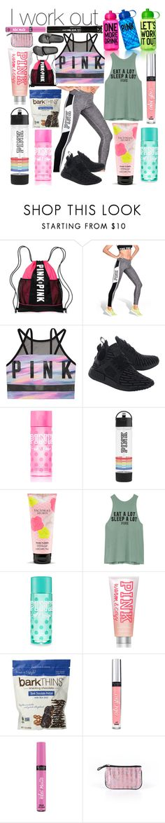 """""""I work out... vs style"""" by whodatgirl ❤ liked on Polyvore featuring Victoria's Secret, Victoria's Secret PINK and adidas Originals"""