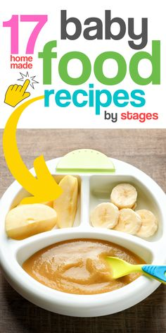 17 Homemade Baby Food Recipes by Stages- 17 Homemade Baby Food Recipes by Stages Need healthy and nutritious homemade baby food recipes? These delicious baby food ideas are perfect for baby's first foods and baby led weaning! Baby Puree Recipes, Baby Food Recipes, Food Baby, Baby First Foods, Healthy Toddler Meals, Food Intolerance, Baby Eating, Food Combining, Homemade Baby Foods