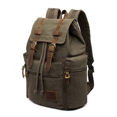 867d933e7f Vintage Retro Canvas Backpack Travel Sport Rucksack Satchel Hiking School  Bag
