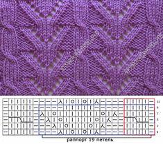 pattern 163 openwork strips with braids Lace Knitting Stitches, Lace Knitting Patterns, Knitting Blogs, Knitting Charts, Lace Patterns, Knitting Designs, Stitch Patterns, Points, Braids