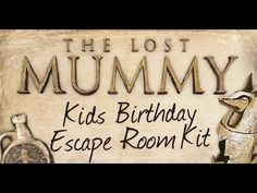 Mysterious kids escape room kit that transforms your home into an ancient adventure! Just download and print the party kit and you're ready to go.