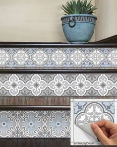 ceramic tile for staircase risers - Google Search