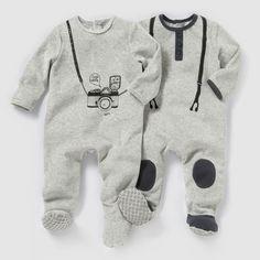 050df394199a6 Lot de 2 pyjamas velours 0 mois - 3 ans. Pyjama NaissanceChambre BébéChambre  ...