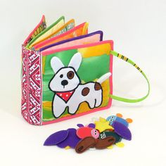 Quiet book Busy 10 pages book Girl Boy Montessori Dog Puppy