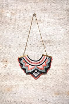 knitted necklaces . ideias de veludo