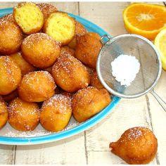 Beignets à la ricotta au zeste d'orange et de citron