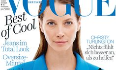 Christy Turlington is the Cover Star of Vogue Germany October 2017 Issue