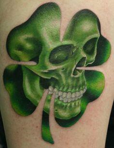 clover skull side