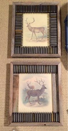 FREE deer printables and tutorial on bullet casing frame
