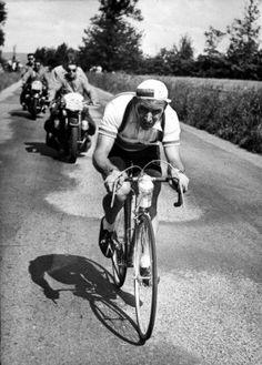 Tour de France 1954. 4^B Tappa, 11 luglio. Rouen > Caen. Wim Van Est (1923-2003)