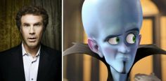 """This would be a good costume to wear to the party in October! Will Ferrell – Megamind (""""Megamind"""") Cartoon Movies, Cartoon Characters, Fictional Characters, Little Giraffe, Will Ferrell, Favorite Cartoon Character, Voice Actor, Cool Cartoons, Cool Costumes"""