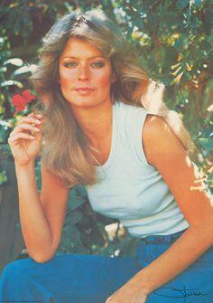 Farrah Fawcett Flower Girl Original 1977 Portrait Poster 20x27