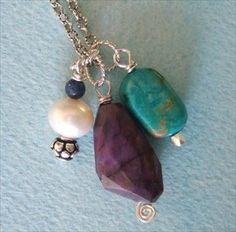 Handmade jewelry - Kingman turquoise, sugilite handmade-beaded-gemstone-jewelry.com